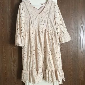 Dresses & Skirts - Ivory lace dress for sale!